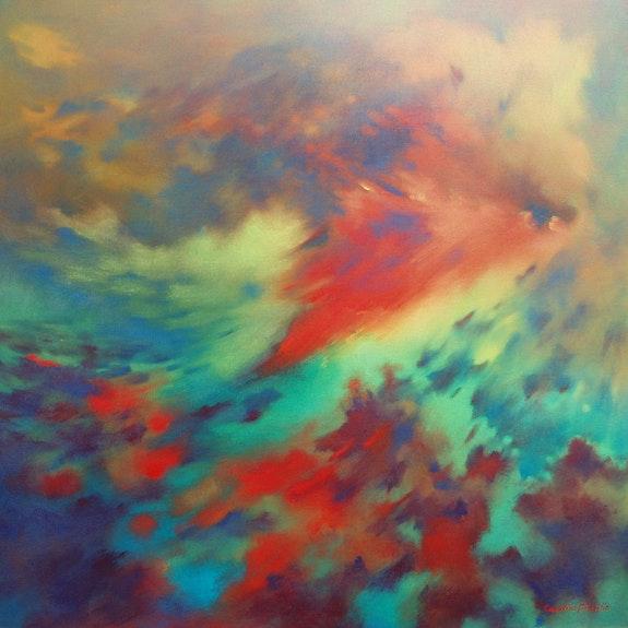 «Poisson d'avril» - toile réalisée en juillet 2012. Caroline Morcillo
