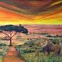 Afrika, Savanne mit einer traumhaften Tierwelt. Finny