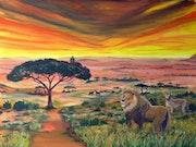 Afrika, Savanne mit einer traumhaften Tierwelt.