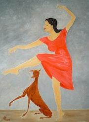 Bild 513: «Dame mit Hund, Ausdruckstanz».