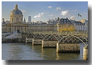 L'Académie Française et le pont des Arts.