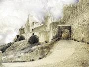 Cité de Carcassonne La porte d'Aude.