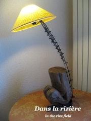 Lampe «dans la rizière».