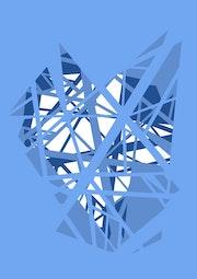 Pylon - Blue. James Stirling