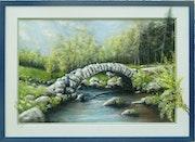 Le pont de Sénoueix en Creuse.