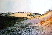 Dunes de Merlimont (Côte d'Opale) en fin d'après-midi.