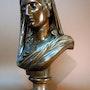 Buste en bronze signé E. Aizelin. Marc Menzoyan Antiquités