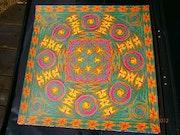 Fire wheel - Mandala au feutre. Dominique Linck