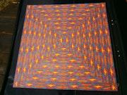 Pyramide de lave - Mandala au feutre. Dominique Linck
