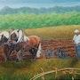Les chevaux au labour. Marie Colin