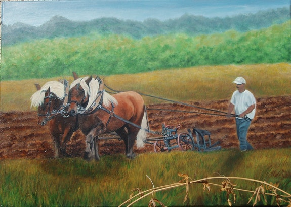 Les chevaux au labour. Marie Colin Marie Colin