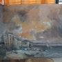 La Ponche de st tropez sous les foudre d'un orage. Carole Lutz