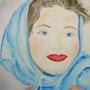 Marie (aquarelle et plume). Ghislaine Phelut