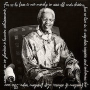 Mandela legacy No 1 (Original oil painting in sfomato style). Jacques De Bruin