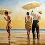 Sur la plage. Marcel Boos