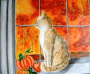 Chat à la fenêtre.