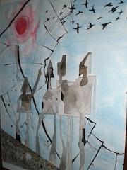 'Agnus dei' (aquarelle et encre de chine).