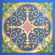 Marquetry in leather inlay. 6 Colors Arabesque..