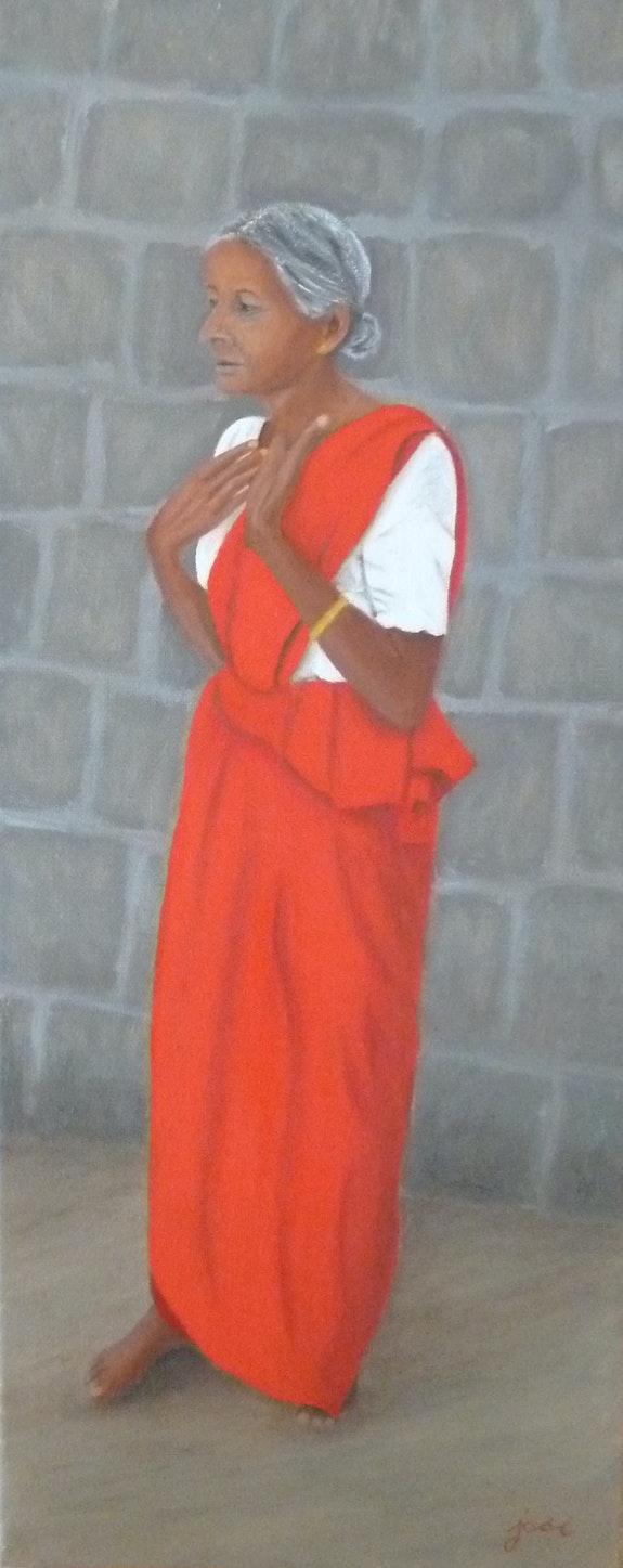 Moment de prière boudhiste. Josi Josi