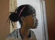 Portrait de Gladys ma voisine du 1 er étage..