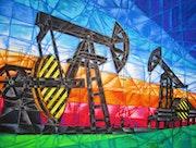 Erdöl- und Erdgasförderung.