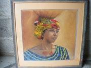 Africaine portant une jarre.