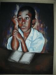 Petit africain à l'école.