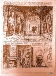 «Le château maudit» del album «les dossiers du fantasdique«original Año 1971. En Representación De Florenci Clavé