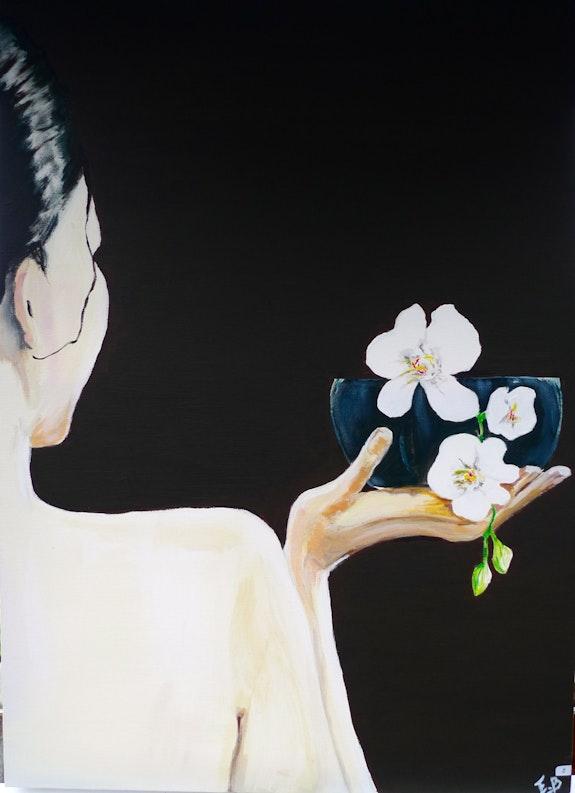 Femme à l'orchidée. Éliane Boisson Eliane Boisson