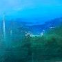 Entre le vert et le bleu, entre terre et mer… 20X20. Sylvane