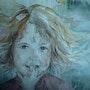 Portrait Ysalys aquarelle. Anne-Marie Vandorpe Deligne