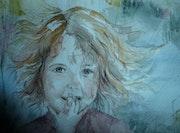 Portrait Ysalys aquarelle.
