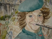Le petit joueur de flûte de Hamelin.