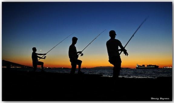 Fishermen at Sunset.  C. Deniz Seyran