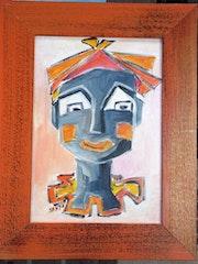 Portrait dessiné d'un seul Trait-Série Clown 2.