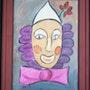 CHAPIFLEUR-Portrait dessiné d'un seul Trait-Série Clown 3. Janyk