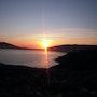 Una puesta de sol- en Finisterre. M. Pilar