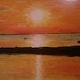 Coucher de soleil sur le bassin. Jean Claude Malaussane