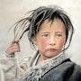Enfant tibétain. Stefania Bellini