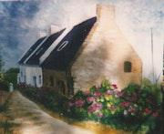 Hameau de Ker Guerc'h à Belle-île.