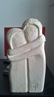 Le baiser (d'après Constantin Brancusi).