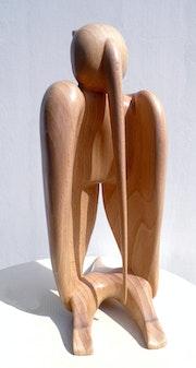 Oiseau qui a un creux - sculpture 50.