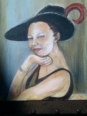 Chatte au chapeau, la Moune.
