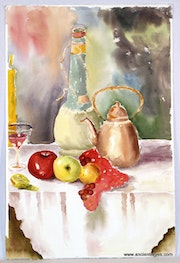 Still Life with Wine & Fruit (0002). The William Frederick Brooks Collections