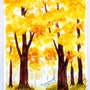 1940'S California School Watercolor: Autumn Colors (0004). The William Frederick Brooks Collections