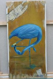 Flamant bleu.