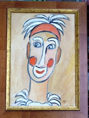 Portrait dessiné d'un seul Trait-Série Clown 5.