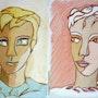 Portrait dessiné d'un seul Trait-Par 2. Janyk