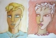 Portrait dessiné d'un seul Trait-Par 2.