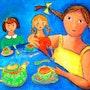 Série Enfance : » La Dinette ». Françoise Raffy